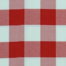 Red & White Picnic Check Linens