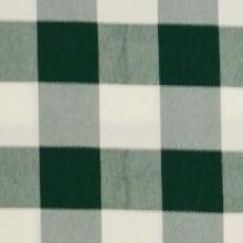 Hunter Green & White Picnic Check Linens