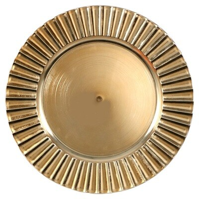 Gold Fluted Charger Plate