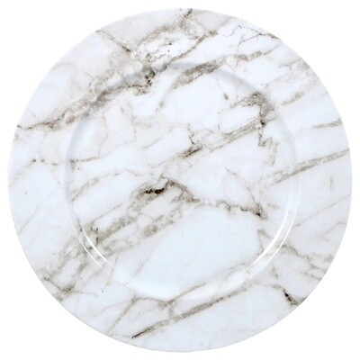 White Marble Charger Plate