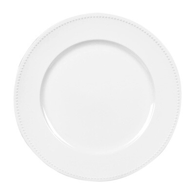 White Beaded Charger Plate