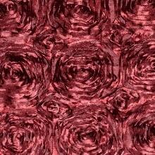 Burgundy Rosette Linens