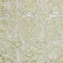 Ivory Rosette Linens