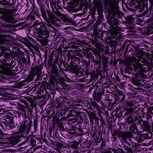 Eggplant Rosette Linens