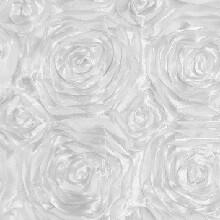 White Rosette Linens