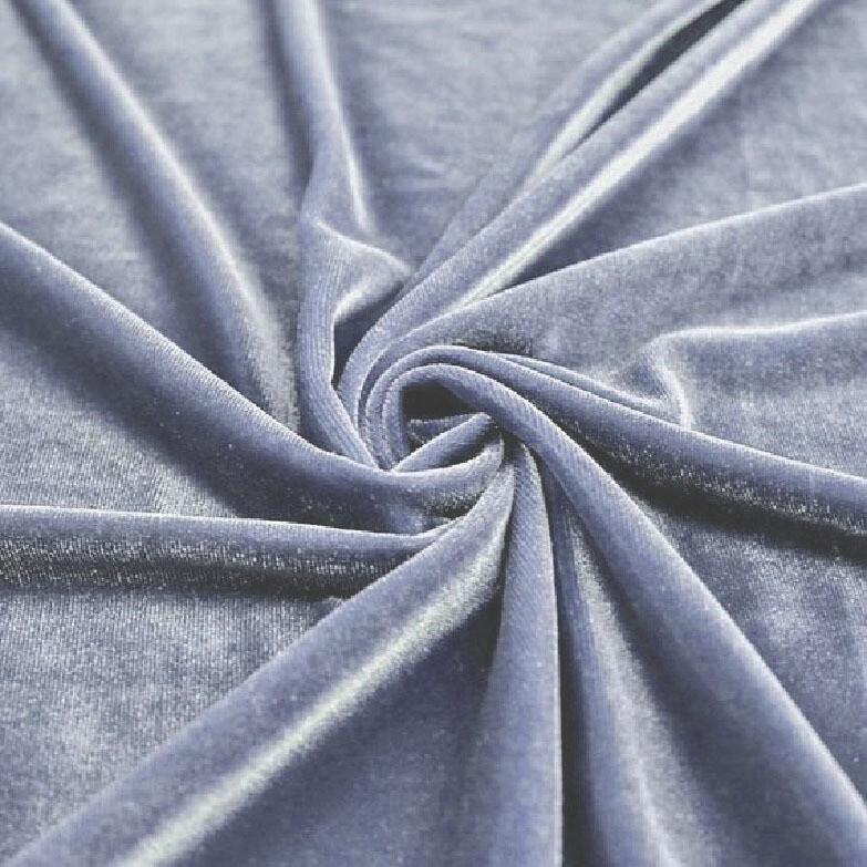 Dusty Blue Premium Velvet Linens
