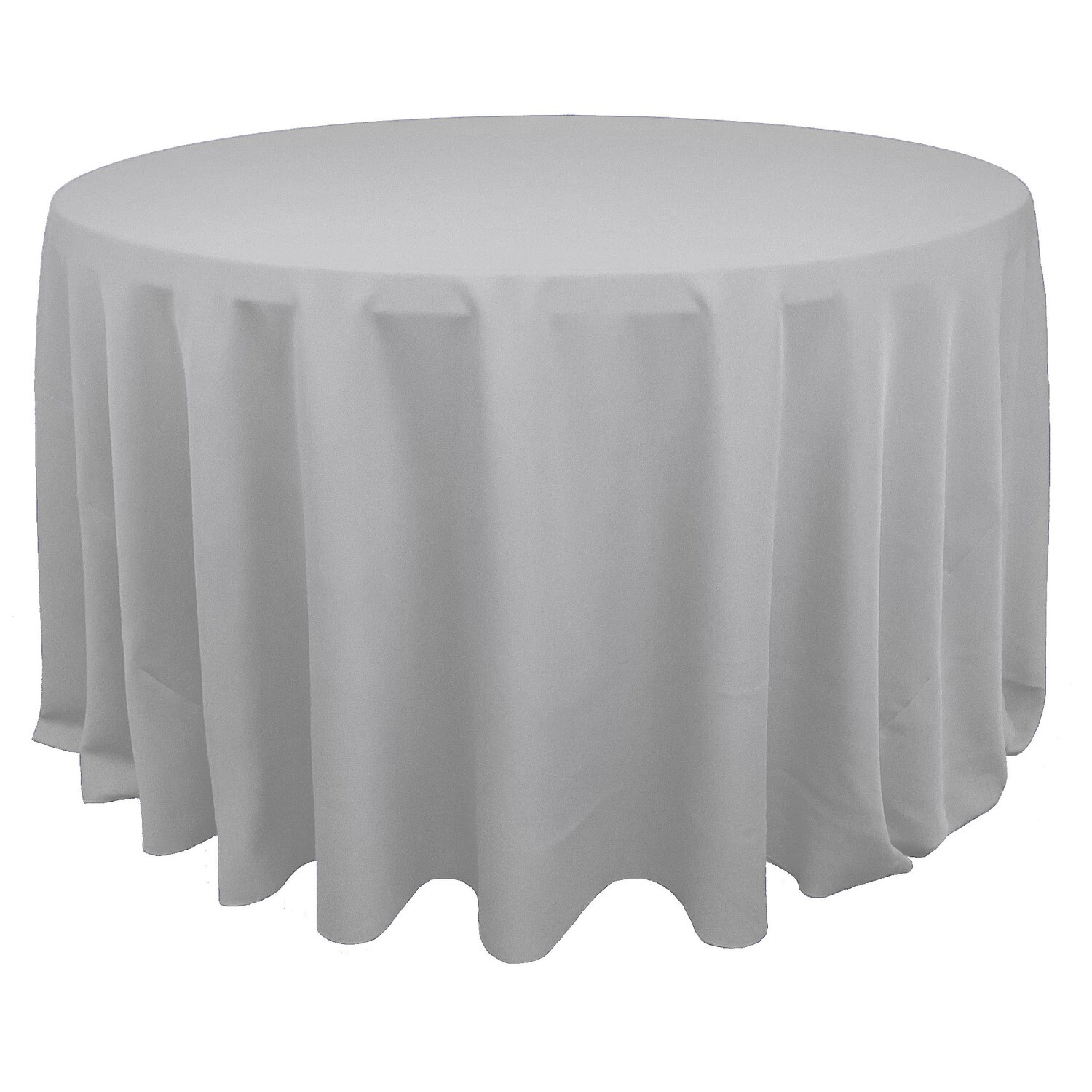 Silver Polyester Linens