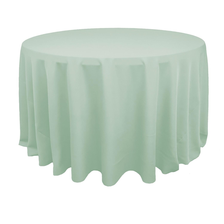 Mint Green Polyester Linens