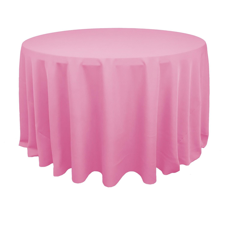 Light Pink Polyester Linens