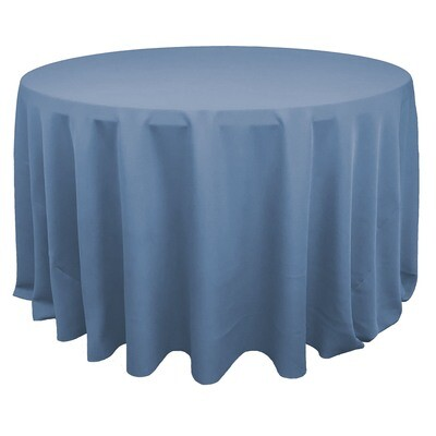 Dusty Blue Polyester Linens