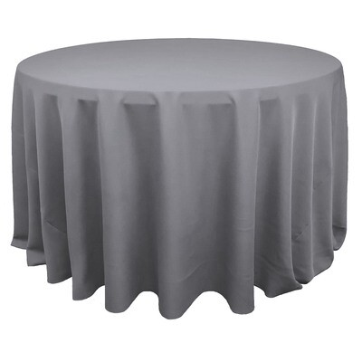 Charcoal Polyester Linens