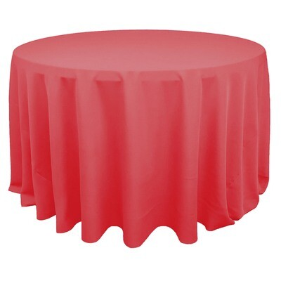 Coral Polyester Linens