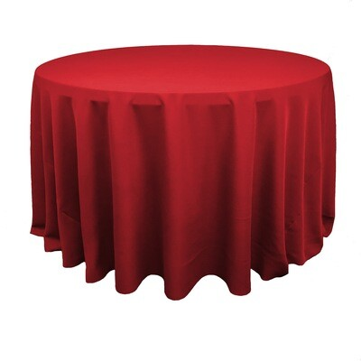 Red Polyester Linens