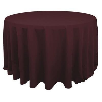 Burgundy Polyester Linens