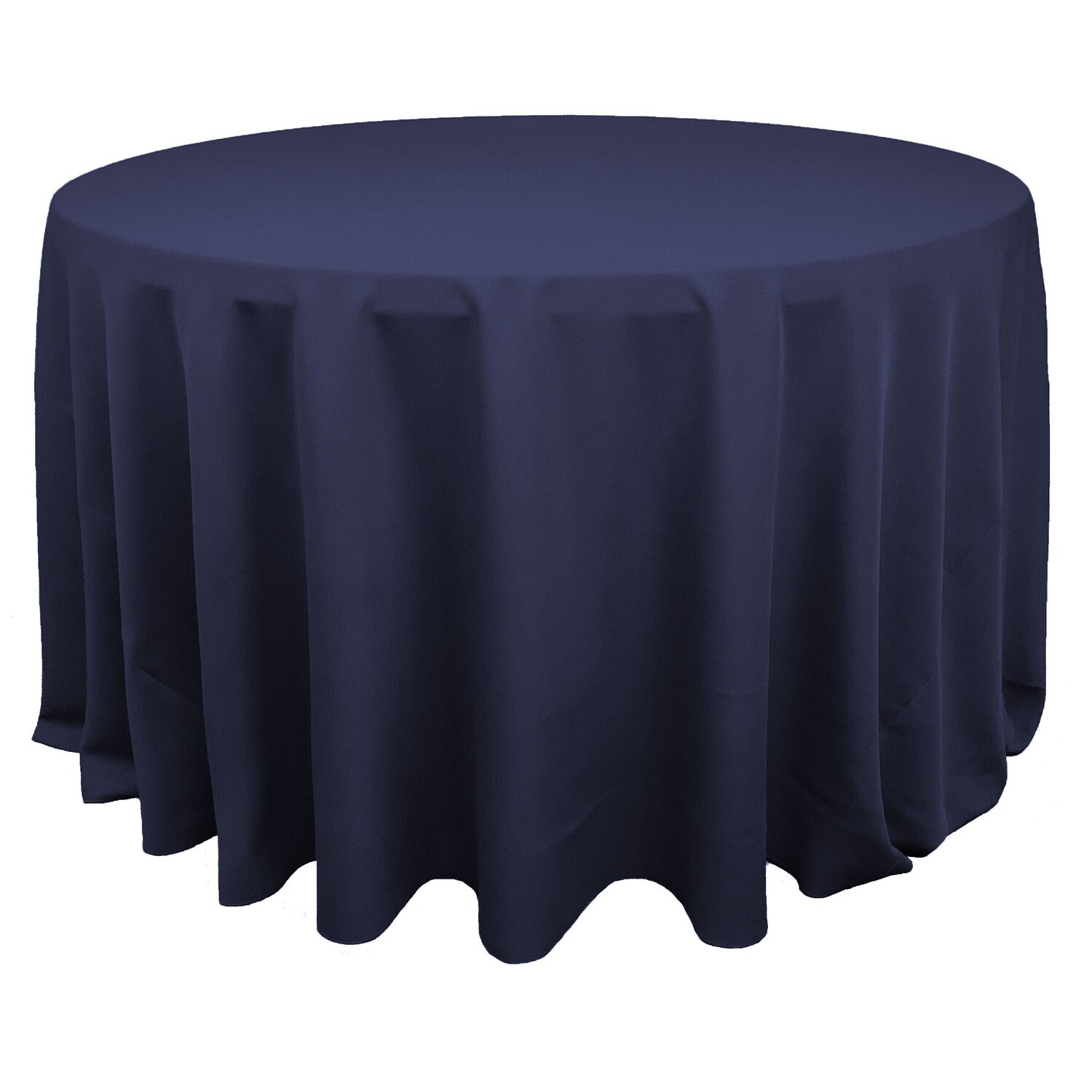 Navy Blue Polyester Linens
