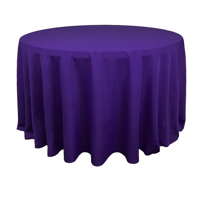 Royal Purple Polyester Linens