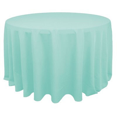 Ice Mint Blue Polyester Linens