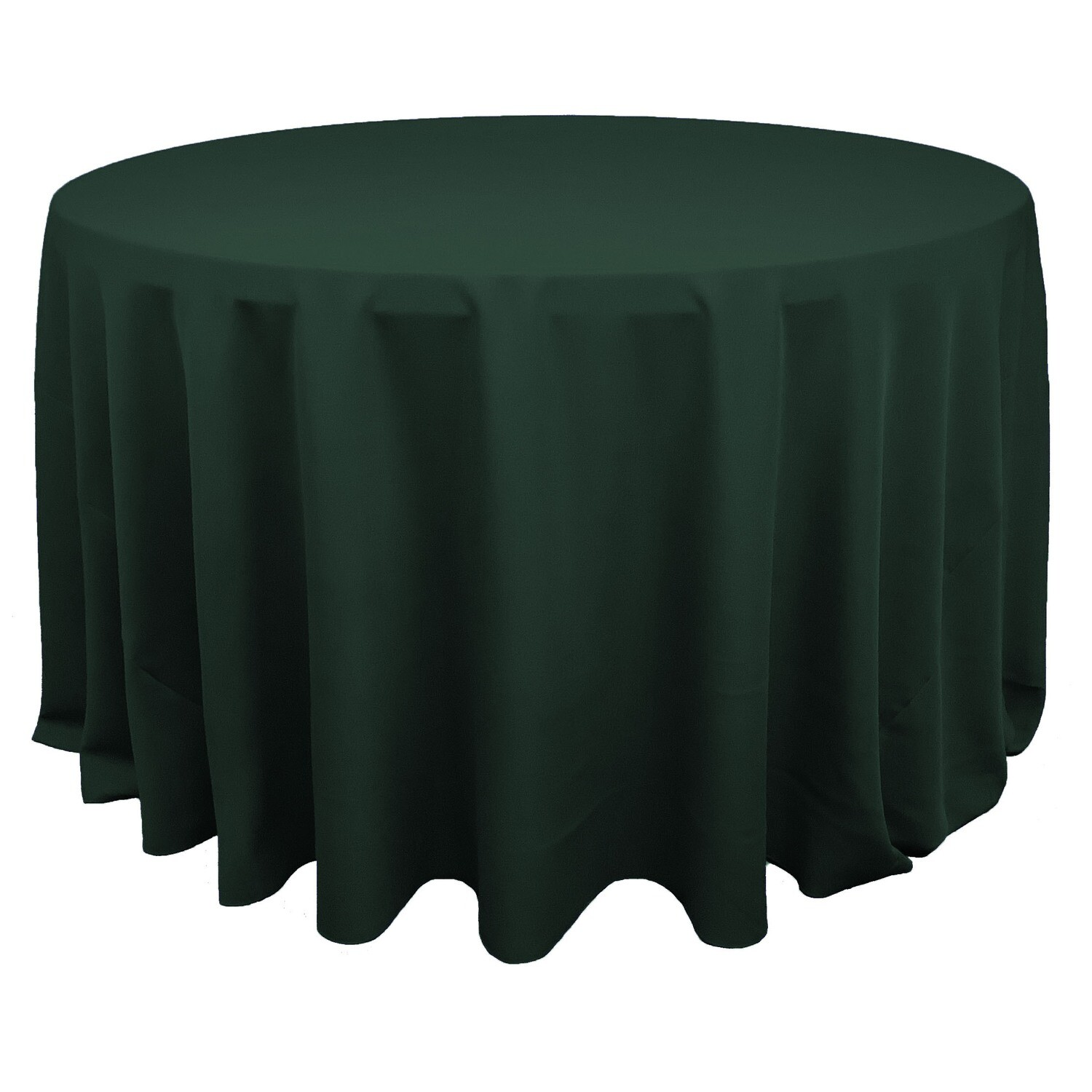 Hunter Green Polyester Linens