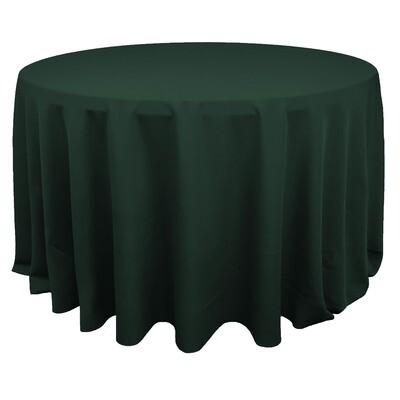Hunter Green Polyester Linens