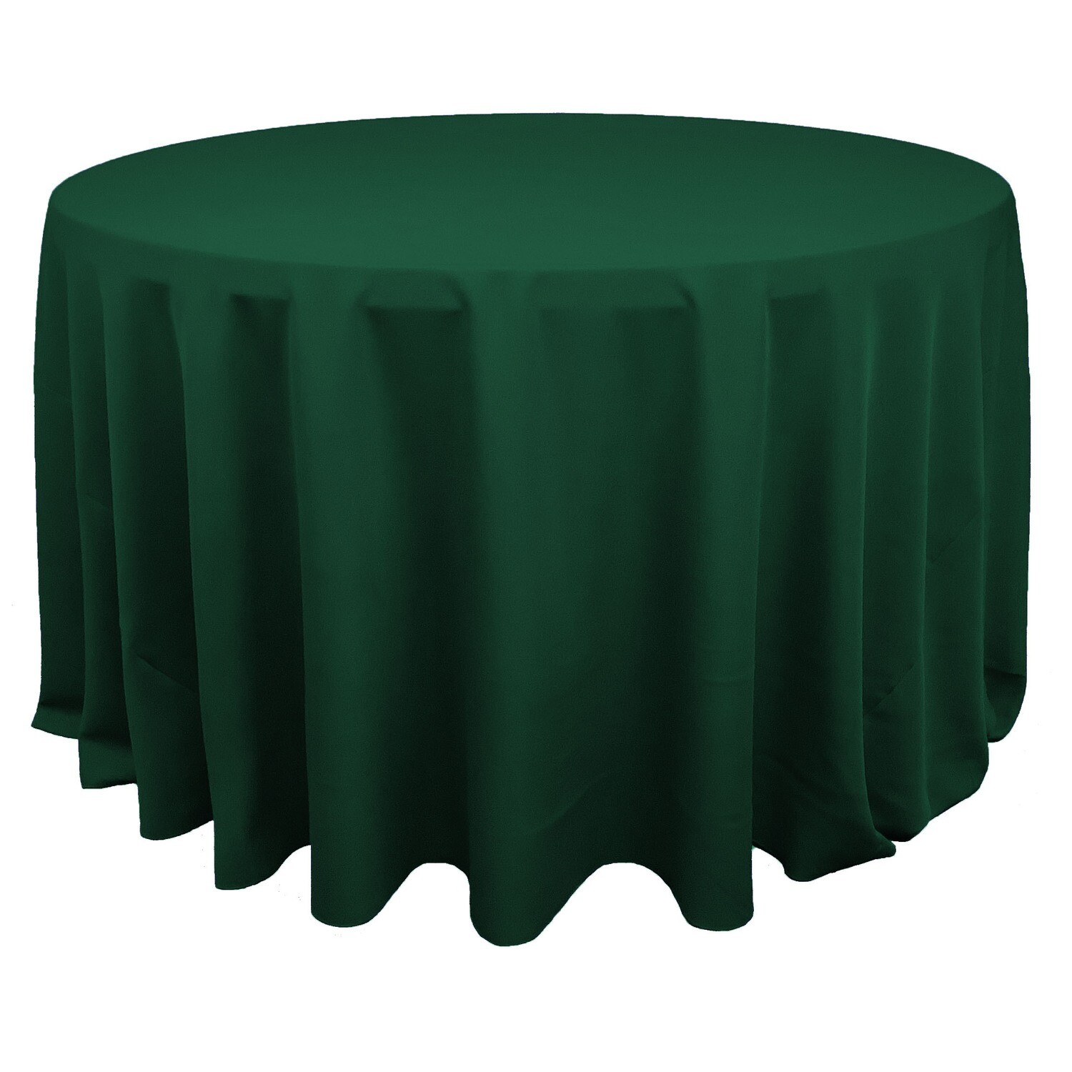 Kelly Green Polyester Linens