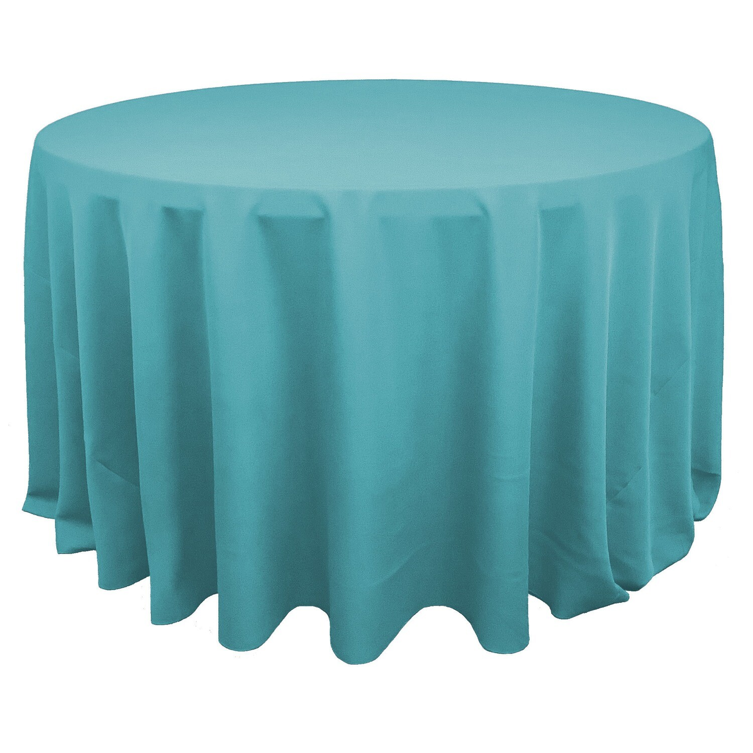Pool Blue Polyester Linens
