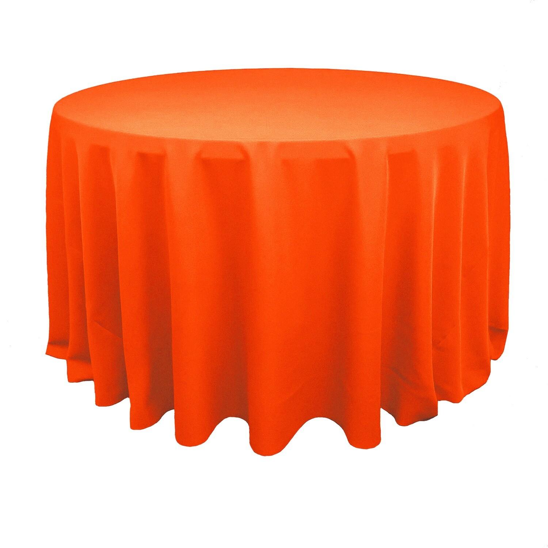 Neon Orange Polyester Linens
