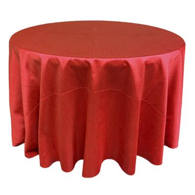 Red Shantung Linens