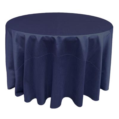 Navy Blue Shantung Linens