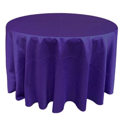 Royal Purple Shantung Linens