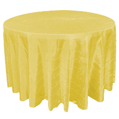 Canary Yellow Pintuck Linens