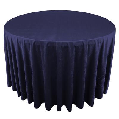 Navy Blue Premium Velvet Linens