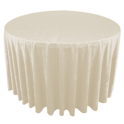 Ivory Premium Velvet Linens