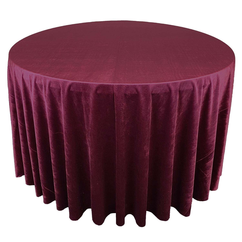 Burgundy Premium Velvet Linens