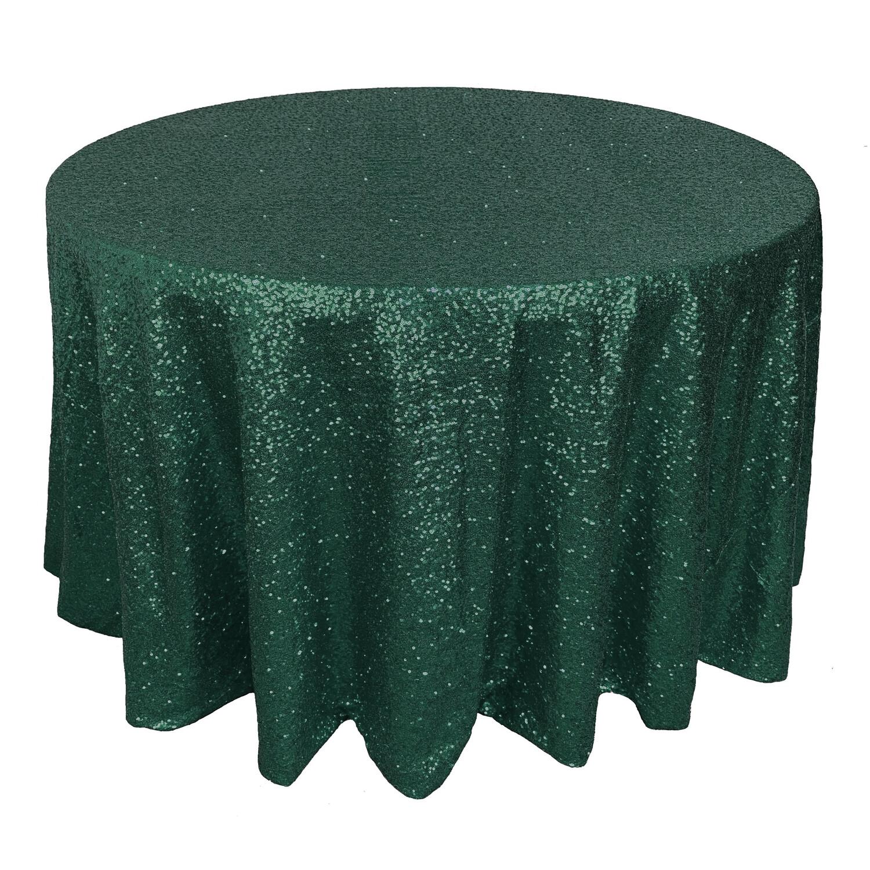 Emerald Green Sequin Linens