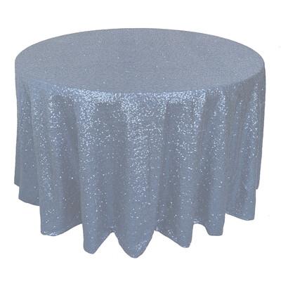 Dusty Blue Sequin Linens