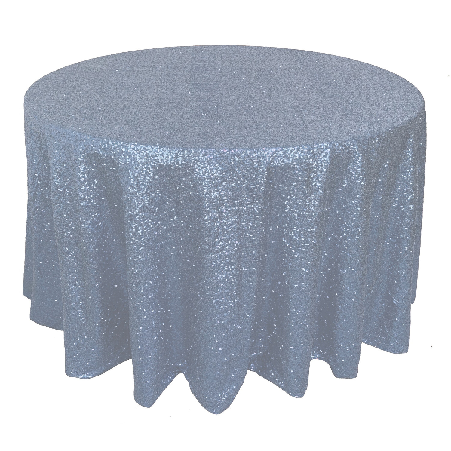 Dusty Blue Sequin Linens