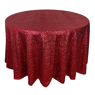 Apple Red Sequin Linens