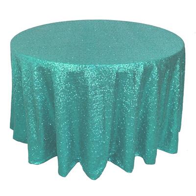 Tiffany Blue Sequin Linens