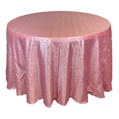 Dusty Rose Sequin Linens