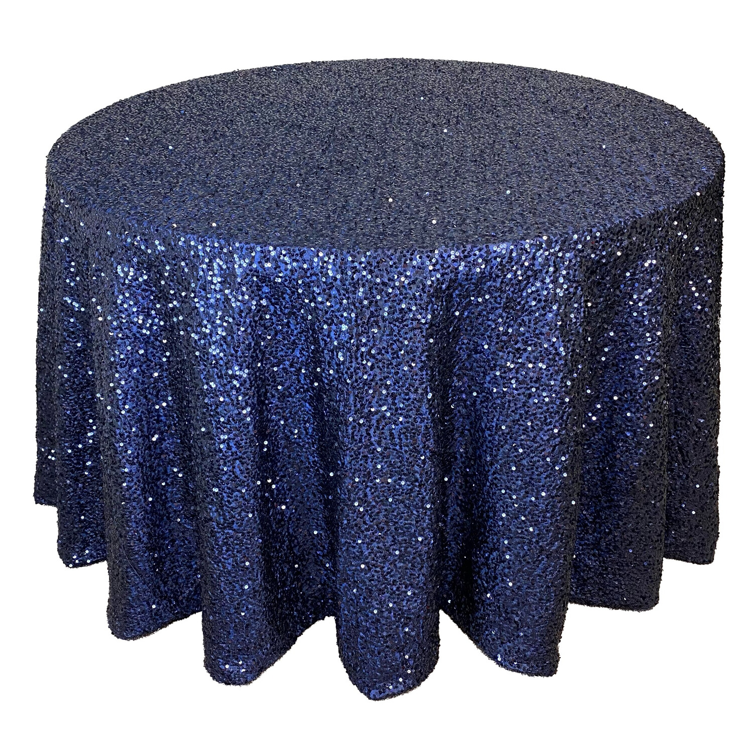 Navy Blue Sequin Linens