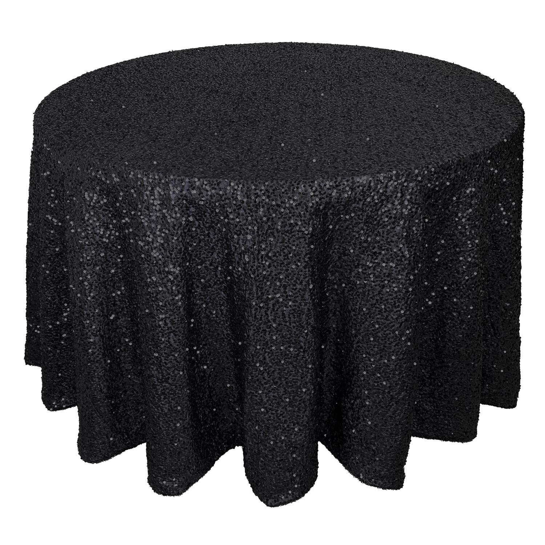Black Sequin Linens