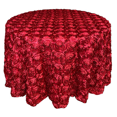 Apple Red Rosette Linens
