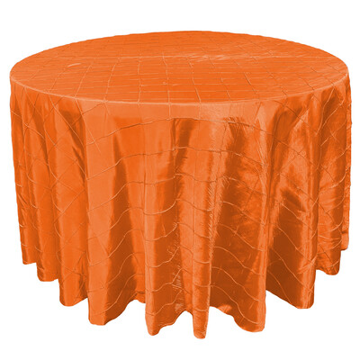Orange Pintuck Linens