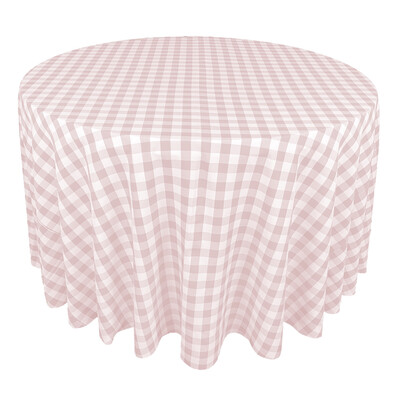 Blush Pink & White Picnic Check Linens