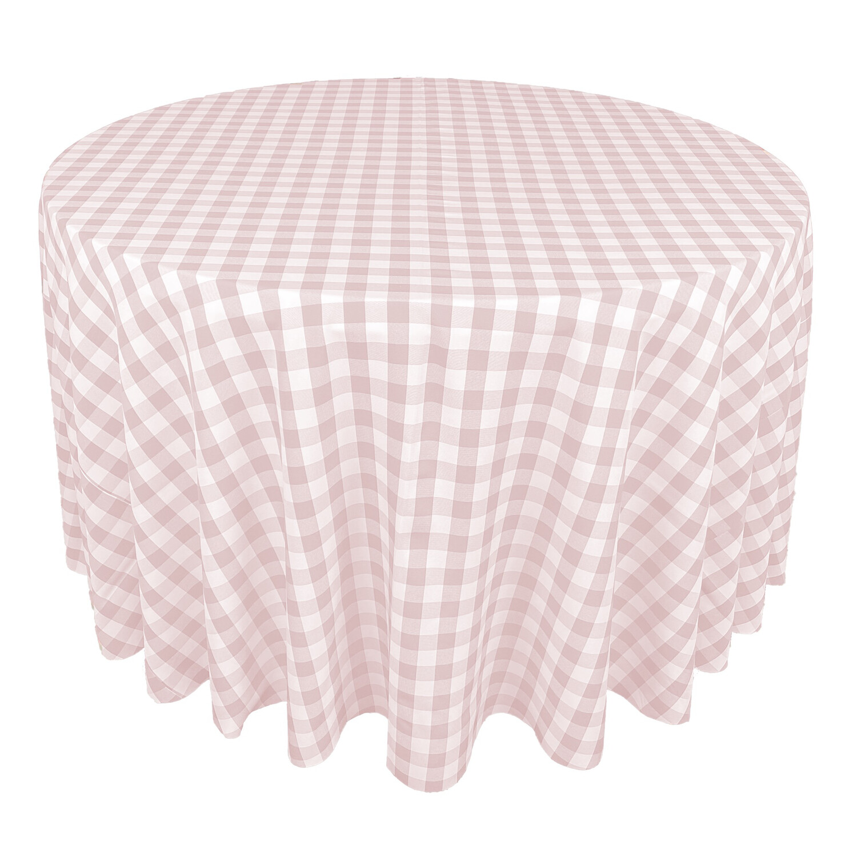 Blush Pink & White Picnic Check Linens