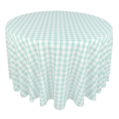 Mint Green & White Picnic Check Linens