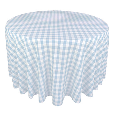Light Blue & White Picnic Check Linens
