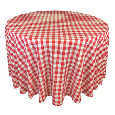 Red & White Picnic Check Linens