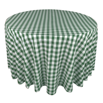 Hunter Green & White Picnic Check Linens