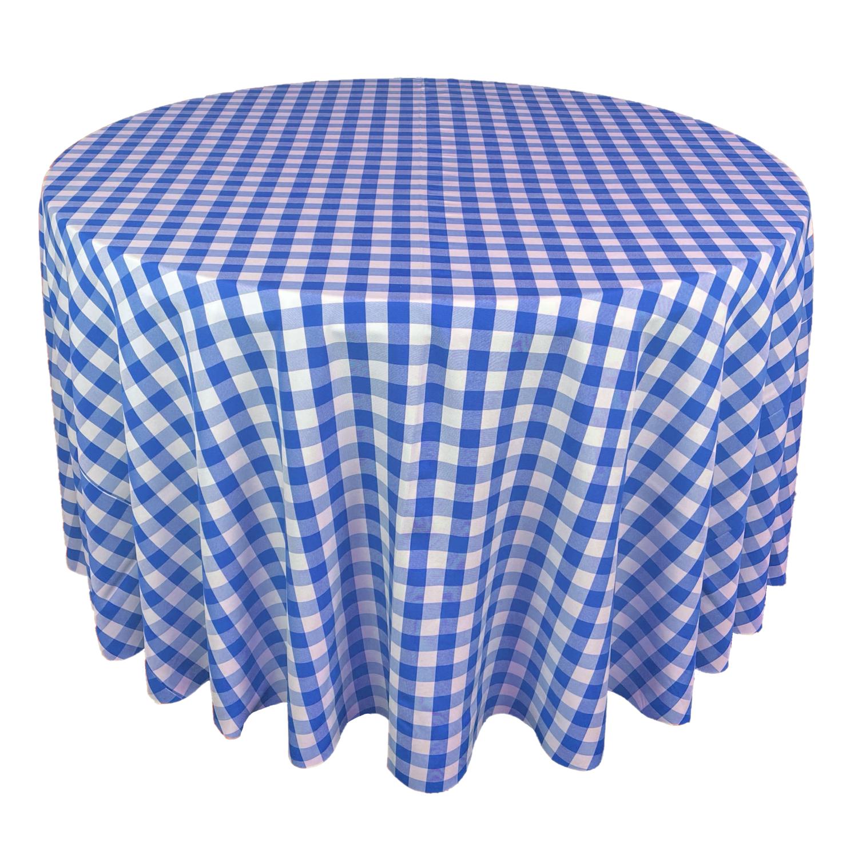 Royal Blue & White Picnic Check Linens